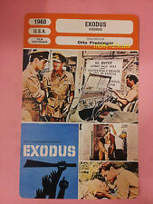 American Epic War Film Exodus Paul Newman Otto Preminger French Trade Card