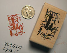 Monogram Letter L rubber stamp  WM P41