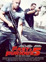 Fast Five movie poster (b) Vin Diesel, Paul Walker, Fast and the Furious poster