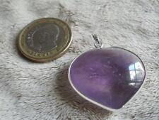 Corazón de Amatista montado en plata de ley.