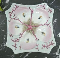 Antique Continental Hand-Painted Porcelain Oyster Plate