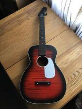 Vtg 1960s 60s Stella Harmony H933 Parlor Guitar Sunburst Strat Style Headstock