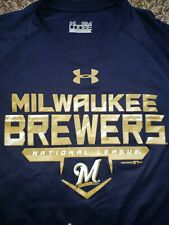 Under Armour Milwaukee Brewers Loose HeatGear Men's Sz Sm T-Shirt Nwot