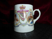 Antique King George V + Queen Mary CORONATION COMMEMORATIVE CUP 1911 Royal #1