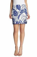 NWT 1. STATE Surf City in Pacific Blue Palm Leaf Print Chiffon Mini Skirt L