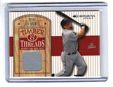 JEFF BAGWELL 2003 DONRUSS TIMBER & THREADS GAME USED JERSEY HOF