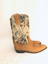 Seychelles Tapestry Leather Western  Boots SZ 7.5 Floral Tapestry Cowboy