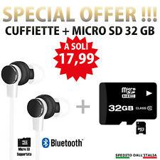 Auricolari V4.2 Stereo Cuffie Wireless con Microfono Bluetooth Sport Running sd