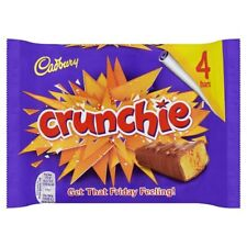 Cadbury Crunchie milk chocolate with honeycombed centre x 4 UK / British recipe
