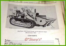 John Deere 1010 Crawler Loader Parts Catalog Pc704 Genuine Dealership Copy