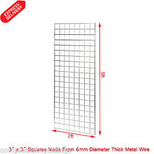 More details for 1 x 5ft gridwall/ grid wall mesh chrome display panel (size: 5ft x 2ft)