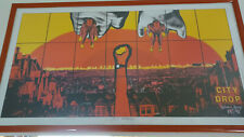 """*SIGNED* GILBERT & GEORGE """"CITY DROP"""" POSTER 37X22 VERY RARE FROM 1998 PARIS EXH"""