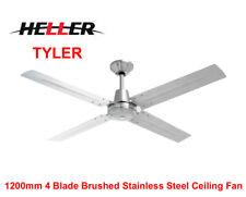 Heller 1200mm 4 Blade 3 Speed Brushed Stainless Steel Ceiling Fan 'TYLER'- NEW