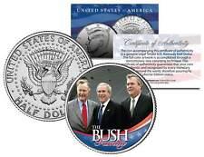 BUSH FAMILY * George HW W & Jeb * Colorized JFK Kennedy Half Dollar U.S. Coin