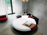 """1000TC Egyptian Cotton 15"""" Deep Pocket Solid Round Bed Sheet Set All Size &Color"""