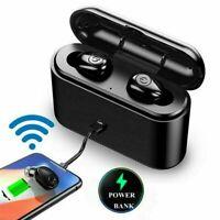 Mini Waterproof Bluetooth 5.0 Stereo Dual Earbuds Headphones Wireless Headset