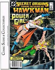 SECRET ORIGINS  #11,  DC,  1987,  GOLDEN AGE HAWKMAN & POWER GIRL