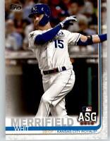 (15) 2019 Topps Update WHIT MERRIFIELD 15-Card Base Lot Royals All-Star #US83