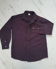 Boys SHIRT 2 Tone Purple/Burgundy/Wine/Black/Blue 10yrs by Adams