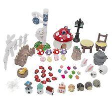 LJY Fairy Garden Dollhouse Decor Miniature Ornament DIY Kit Pack of 52 Units