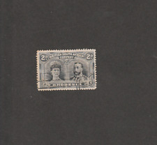 BRIT SOUTH AFRICA CO RHODESIA 1910 GEORGE 2d BLACK SLATE USED SG# 171b CV 32