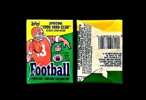1986 Topps Football Unopened Wax Pack - Possible Jerry Rice Rookie - Excellent