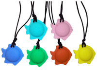 FISH Chewy Necklace with Breakaway Clasp Autism ADHD Chew Biting Sensory SEN ASD