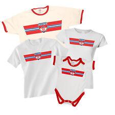 CROATIA Patriotic Fan Kit Retro Strip T-Shirt Football MENS LADIES KIDS BABY