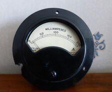 Vintage Bakelite War Department Milliamperes Moving Coil Amp Meter. 1-200. 1944