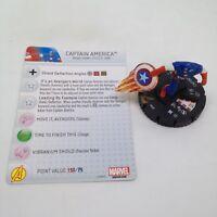 Heroclix Avengers Assemble set Captain America #049 Super Rare figure w/card!