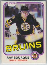 1981-82 O-Pee-Chee Boston Bruins Hockey Card #1 Ray Bourque