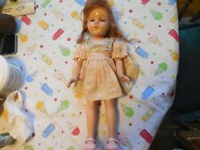 "Ann Shirley Doll Effanbee Vintage Composition Doll 15"" NEEDS TLC"
