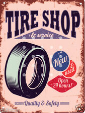 TIRE SHOP (AMERICAN) METAL SIGN 8x10in pub bar shop cafe games room  garage