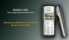 Nokia 1100 with Nokia Battery and Compatible Charger(6 Month Warranty)