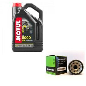 Genuine Kawasaki oil & filter service kit 16097-0008 4L Motul 5000