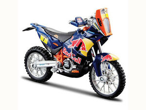 Dakar Rally REDBULL KTM SXF 450 1:18 Die-Cast Motocross MX Toy Model Bike Orange