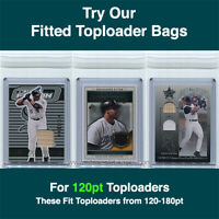 Fitted Bags Top Loader Sleeves for Thick Ultra Pro Toploaders (100 - 1pk) 120pt