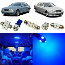 19x Blue LED lights interior package kit for 1998-2006 Mercedes S-Class ZS1B