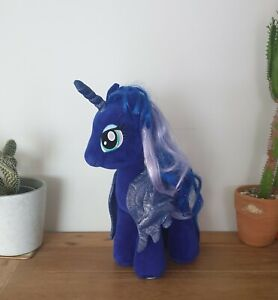 BUILD A BEAR - MY LITTLE PONY - DARK BLUE - LUNA PLUSH - Moon Unicorn BAB VGC