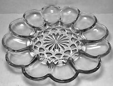 Vintage Anchor Hocking Presence Grey Hue Depression Glass Deviled Eggs Platter