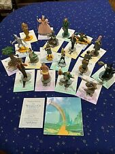 Wizard Of Oz Franklin Mint 1988 Turner Entertainment Figurines (17) with Coa's