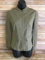 Talbots Jacket Size 8 Womens Olive Green Long Sleeve Blazer Coat Career Work top