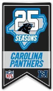 "CAROLINA PANTHERS ""25 SEASONS"" BANNER PIN NFL FOOTBALL SUPER BOWL 54 ?? METAL"
