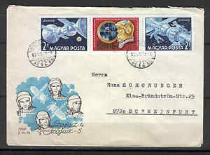 Hungary 0051 FDC 1969 Used by mail 3v CV 17,50 eur SPACE