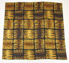 Vintage 1980s Christian Dior Silk Scarf Leopard Print Tiger Print Made In Italy