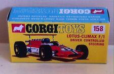 Corgi 158 Lotus Climax F1 Empty Repro Box