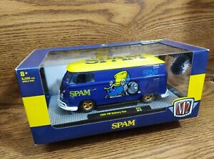 👉☮️1960☮️ Volkswagon SPAM VW Retro DELIVERY VAN RARE GOLD WHEELS M2 NON-CHASE