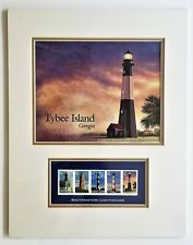 Tybee Island Lighthouse Art Matted & 5 Lighthouse 37¢ Stamps Mint – Sealed