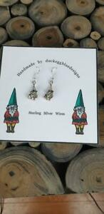 Garden Gnome Earrings with Sterling Silver Earwires