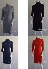Cashmere dress for women Cashmere long sleeve dress Cashmere dress Knee length